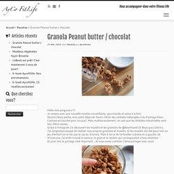 Granola Peanut butter / chocolat - Aycofitness