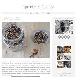 Granola au chocolat - Espelette et Chocolat