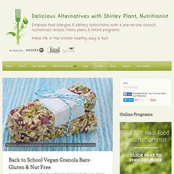 Back to School Vegan Granola Bars- Gluten & Nut Free - Delicious Alternatives