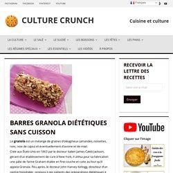 BARRES GRANOLA DIÉTÉTIQUES SANS CUISSON