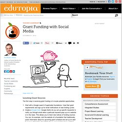 Grant Funding with Social Media