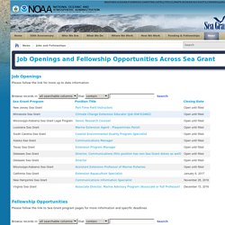 Sea Grant > News > Jobs and Fellowships