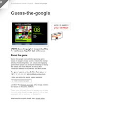 Grant Robinson : Guess-the-google