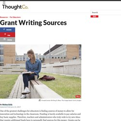 Grant Writing - sources and tips for writing grants part 1