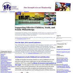 GCYF: Supporting effective children, youth, and family philanthropy