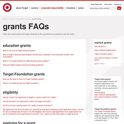 Grants FAQs: Answers About Target Grants