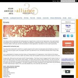Grants - Asian American Arts Alliance