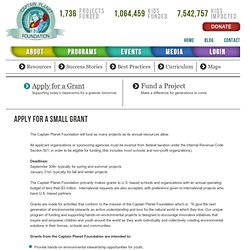 Apply for Grants | Captain Planet Foundation