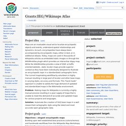 Grants:IEG/Wikimaps Atlas