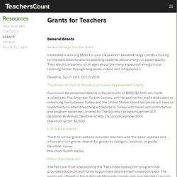 Grants — TeachersCount
