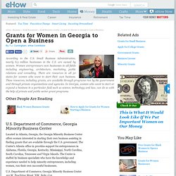 Grants for Women in Georgia to Open a Business