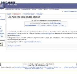 Granularisation pédagogique