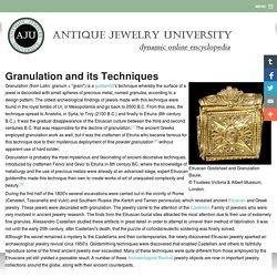 Granulation and its Techniques - AJU