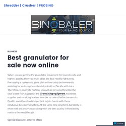 Best granulator for sale now online – Shredder