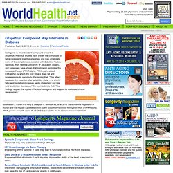 Grapefruit Compound May Intervene in Diabetes