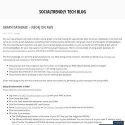 Graph database – Neo4j on AWS – SocialTrendly Tech Blog