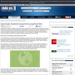 Open Graph : Facebook veut partir à la conquête du Web