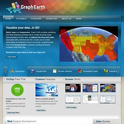 GraphEarth - Visualize your data...in 3D! Google Earth KML KMZ Rendering Engine