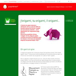 J'origami, tu origami, il origami...