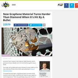 New Graphene Material Turns Harder Than Diamond When It's Hit By A Bullet