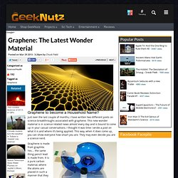 Graphene: The Latest Wonder Material