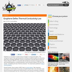 Graphene Defies Thermal Conductivity Law