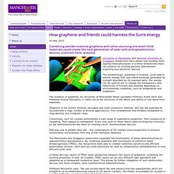 How graphene and friends could harness the Sun's energy | The University of Manchester
