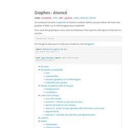 Graphes - énoncé — Python pour un Actuaire 0.3.595