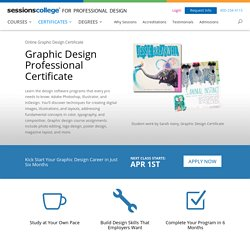 Online Graphic Design Certificate - Sessions College