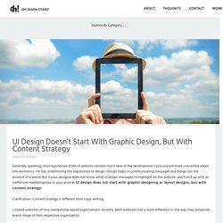 UI Design Doesn't Start With Graphic Design, But With Content Strategy - Blog