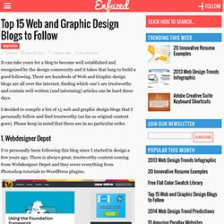 Top 15 Web and Graphic Design Blogs to Follow