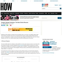 Graphic Design Portfolios: The New Online Resume