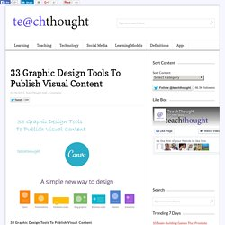 33 Graphic Design Tools To Publish Visual Content