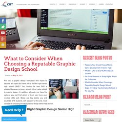 Graphic Design Senior High School: How to Find the Best One