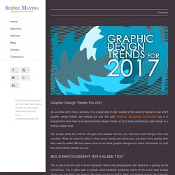 Graphic Design Trends For 2017 - Scroll Mantra