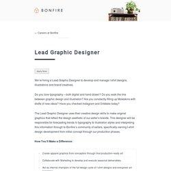Lead Graphic Designer - Careers at Bonfire : Careers at Bonfire