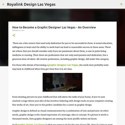 How to Become a Graphic Designer Las Vegas - An Overview