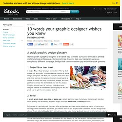 10 Words your graphic designer wishes you knew