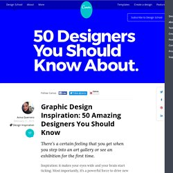 Graphic Design Inspiration: 50 Amazing Designers You Should Know – Design School