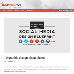 10 graphic design cheat sheets