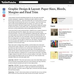 Graphic Design & Layout: Paper Sizes, Bleeds, Margins and Final Trim