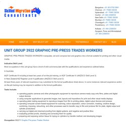 UNIT GROUP 3922 GRAPHIC PRE-PRESS TRADES WORKERS