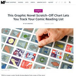 This Graphic Novel Scratch-Off Chart Lets You Track Your Comic Reading List