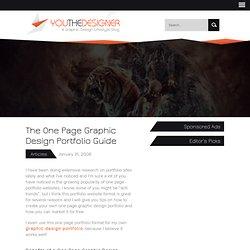 The One Page Graphic Design Portfolio Guide