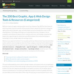The 200 Best Graphic, App & Web Design Tools & Resources