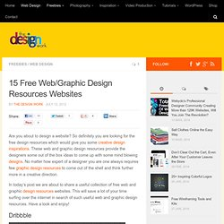 15 Free Web/Graphic Design Resources Websites