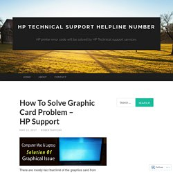 How To Solve Graphic Card Problem – HP Support