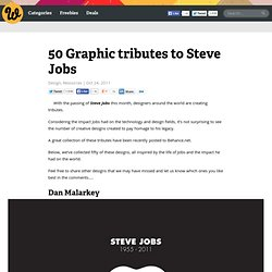 50 Graphic tributes to Steve Jobs