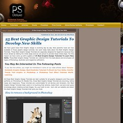 25 Best Graphic Design Tutorials To Develop New Skills