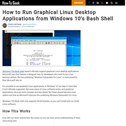 How to Run Graphical Linux Desktop Applications from Windows 10's Bash Shell